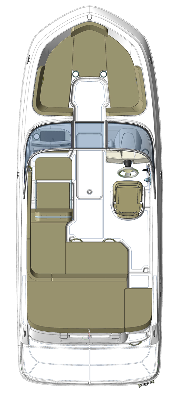 Bayliner VR5EBowrider  Floorplan Layout