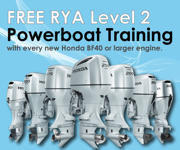 Visit our chandlery to view available Honda Outboard Engines and for further information.
