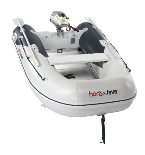 Honwave T25-AE2 Aluminium decked inflatable boat for sale